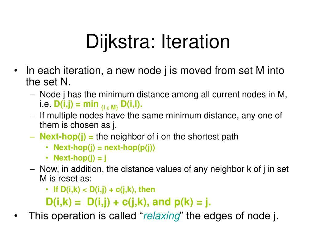 Dijkstra: Iteration