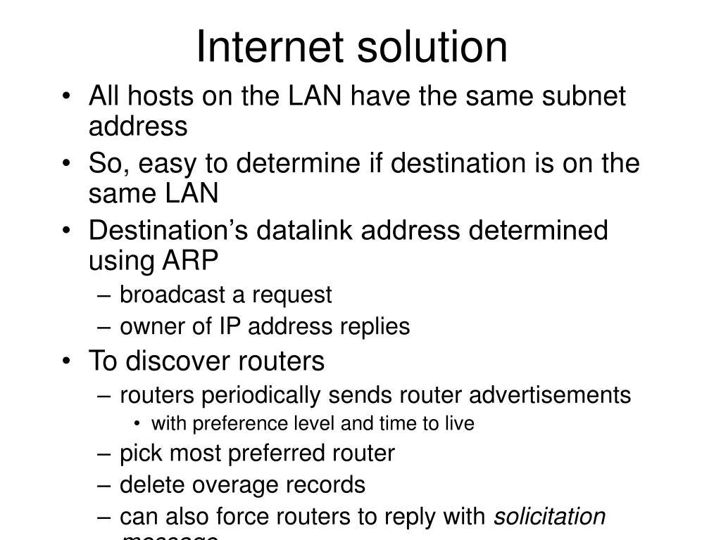 Internet solution