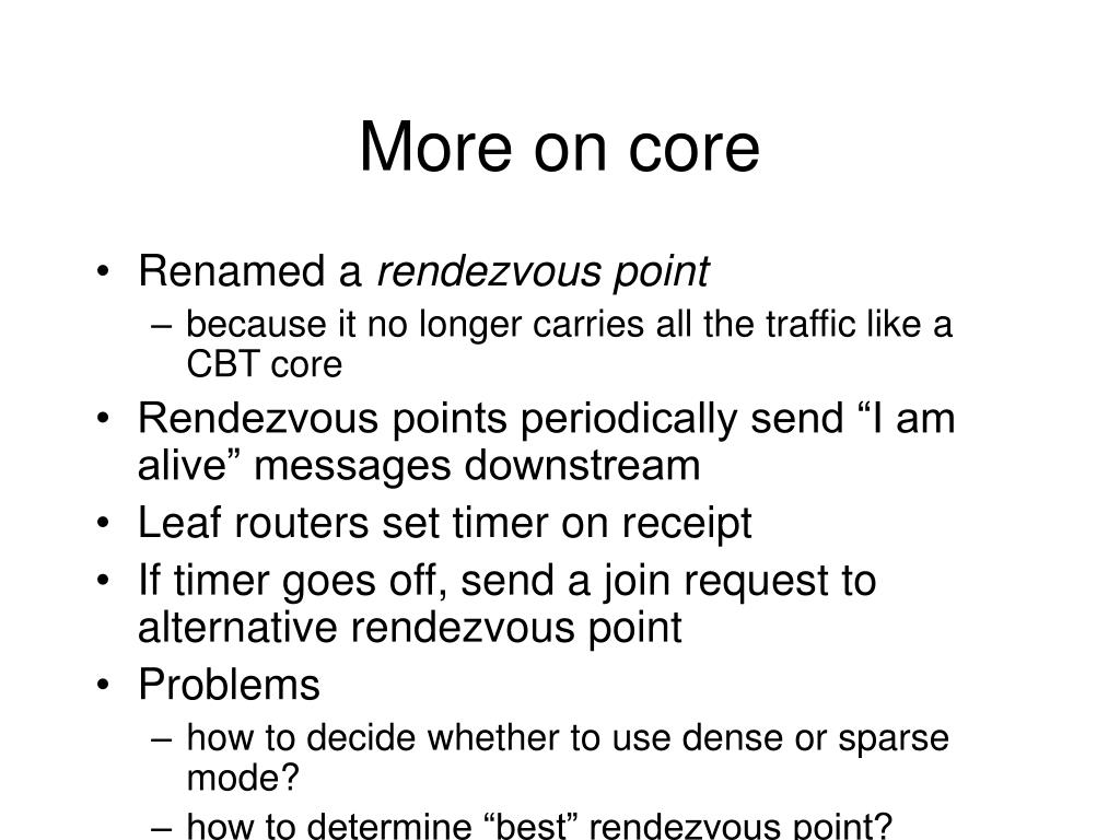 More on core