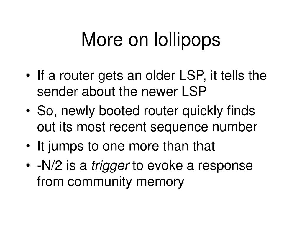More on lollipops
