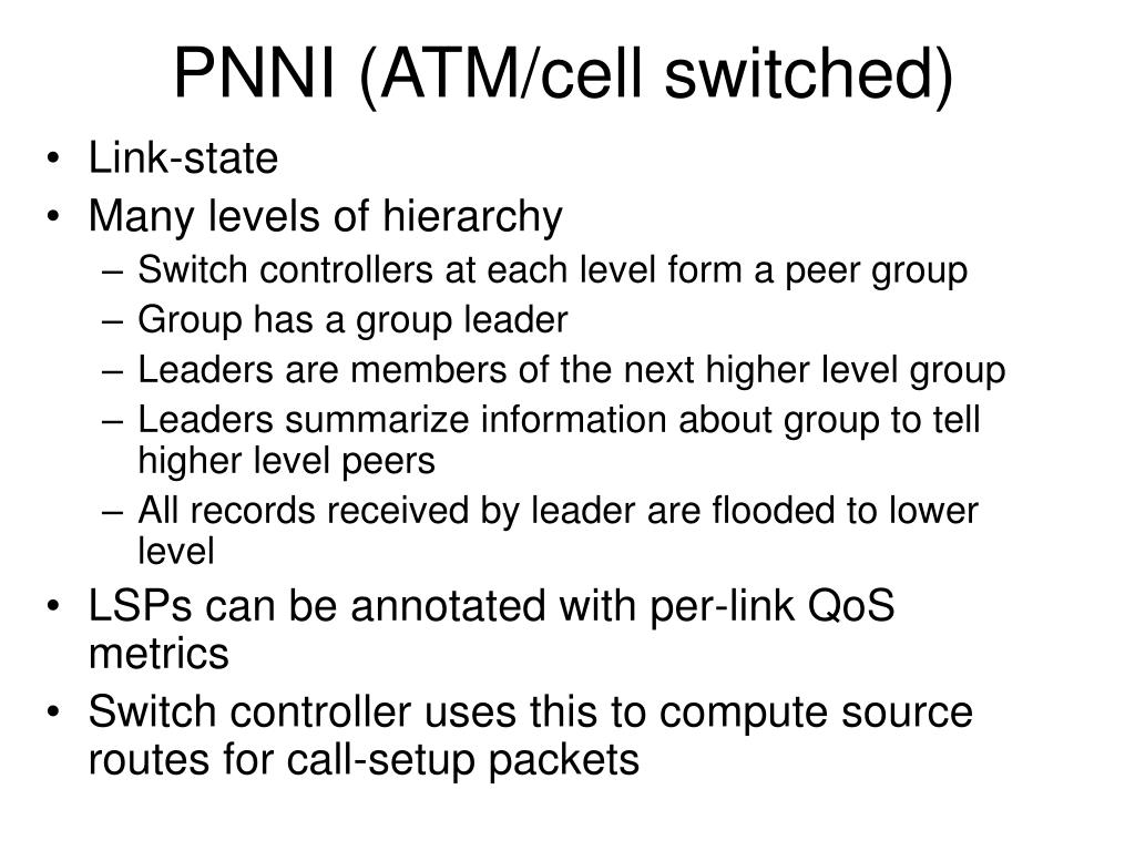 PNNI (ATM/cell switched)