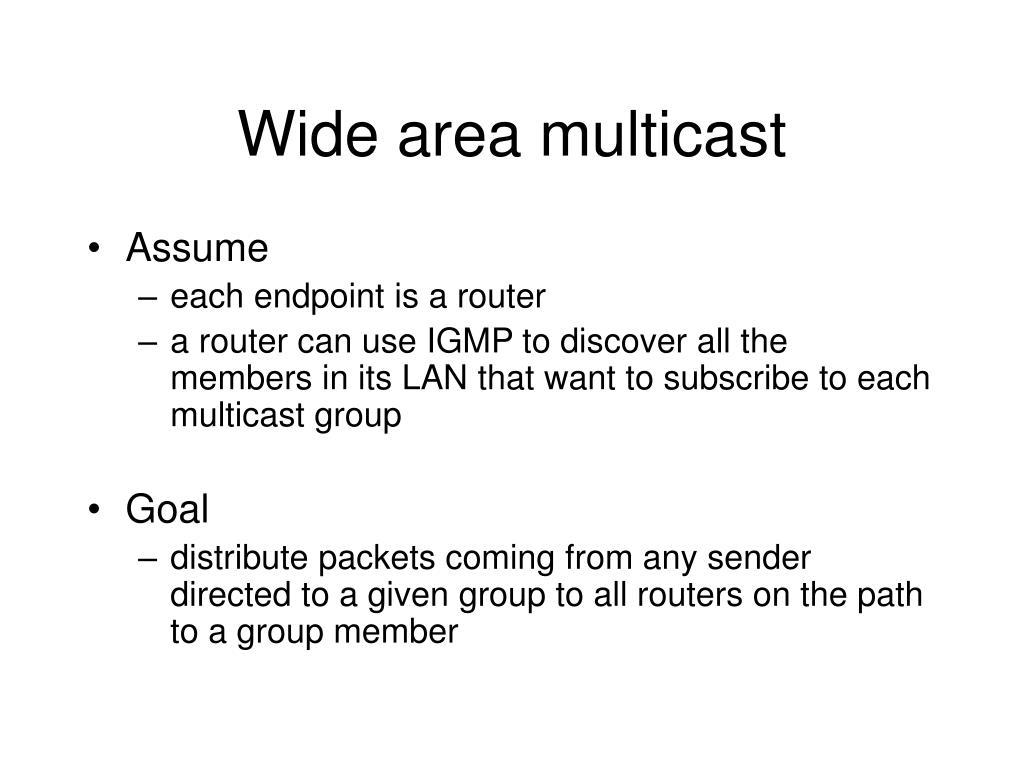 Wide area multicast