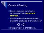 covalent bonding28