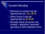 covalent bonding33