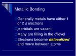 metallic bonding46