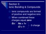 section 3 ionic bonding compounds