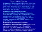 three laws to discuss