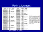 porin alignment