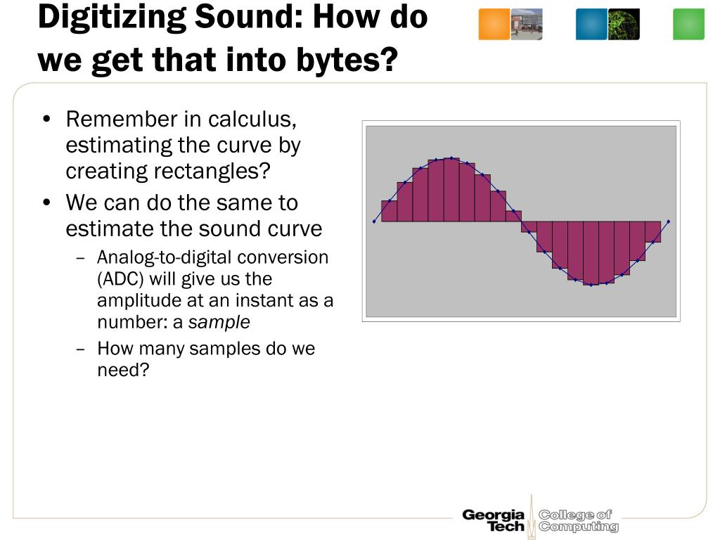Digitizing Sound: How do we get that into bytes?
