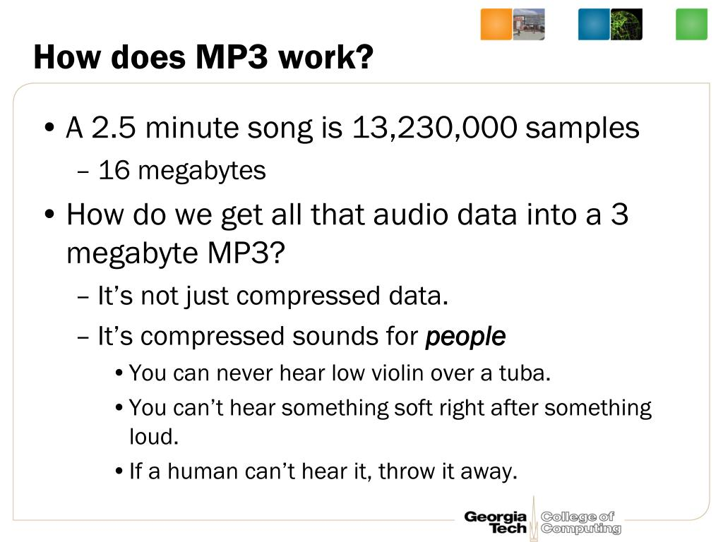 How does MP3 work?