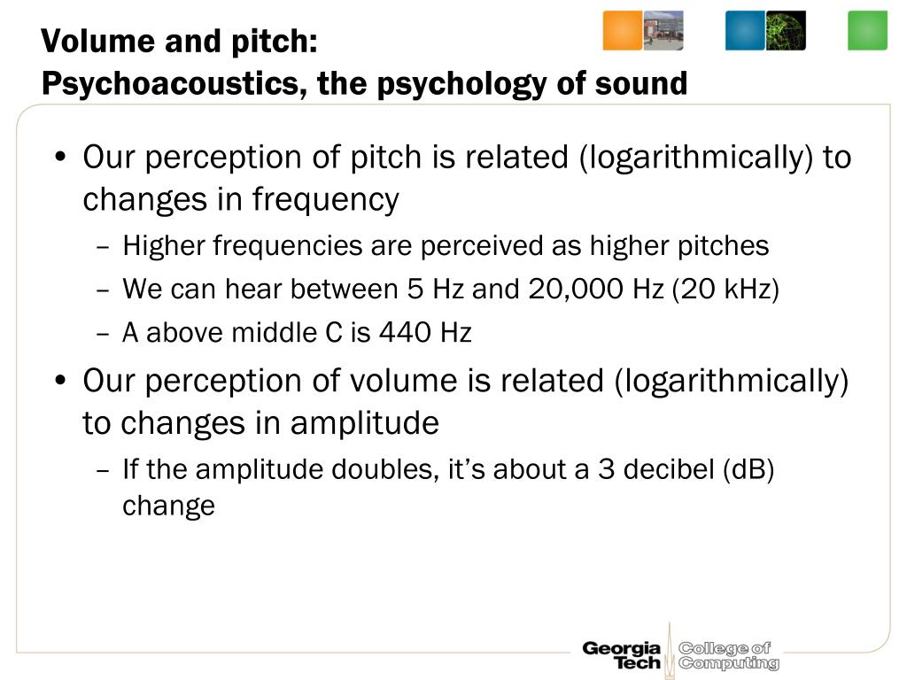 Volume and pitch: