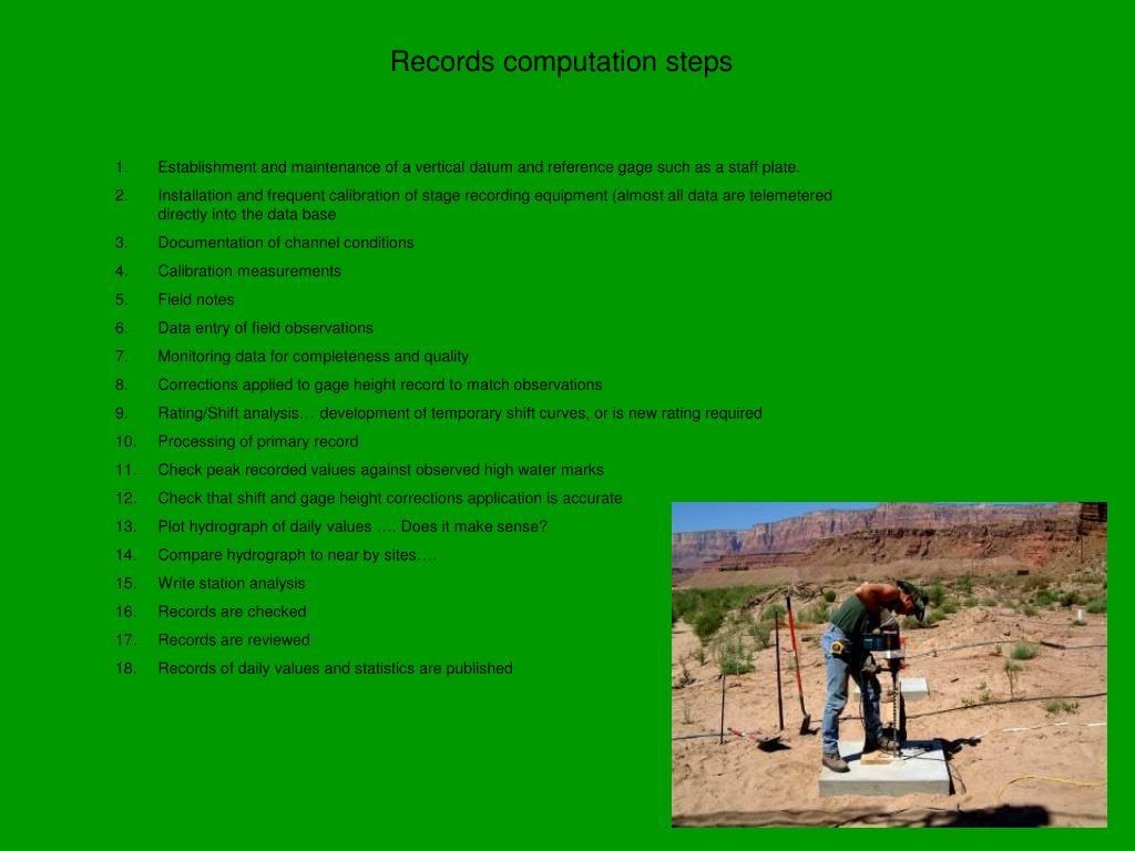 Records computation steps