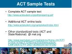 act sample tests