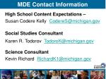 mde contact information50