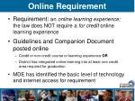 online requirement