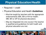 physical education health