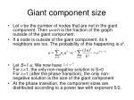 giant component size