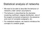 statistical analysis of networks