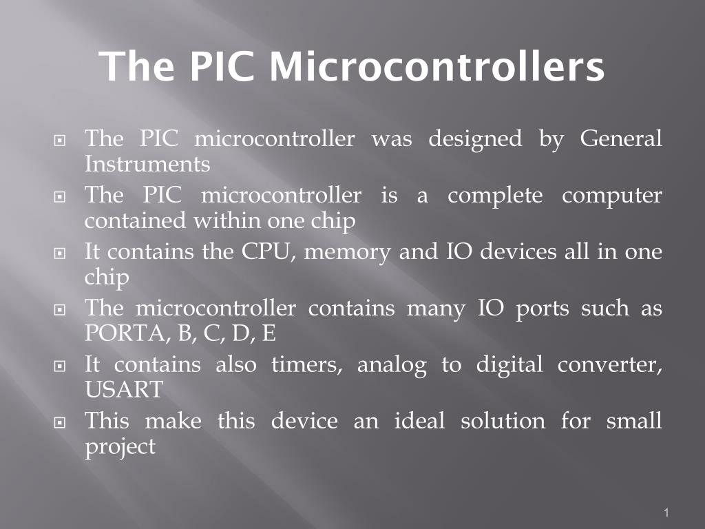 PPT - The PIC Microcontrollers PowerPoint Presentation - ID