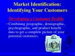 market identification identifying your customers