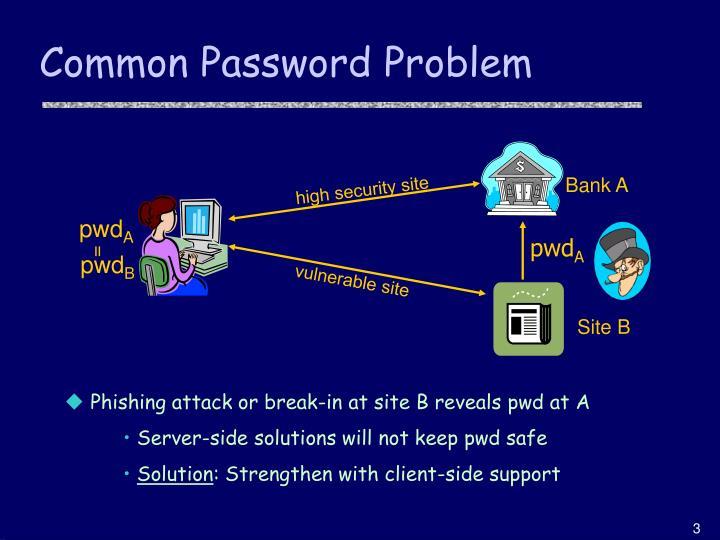 Common password problem
