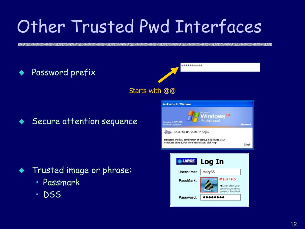 Other Trusted Pwd Interfaces