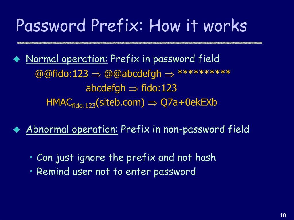 Password Prefix: How it works