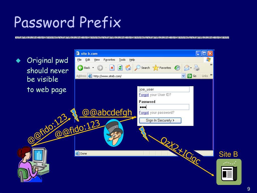 Password Prefix