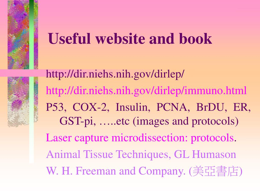 Useful website and book