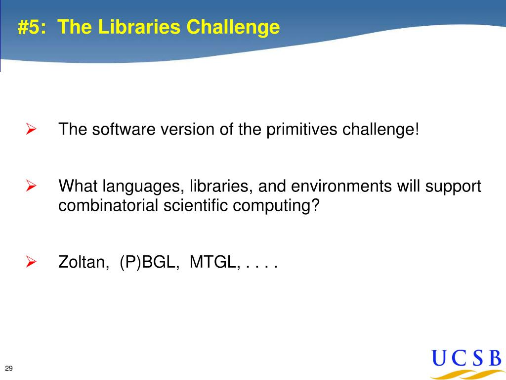 #5:  The Libraries Challenge