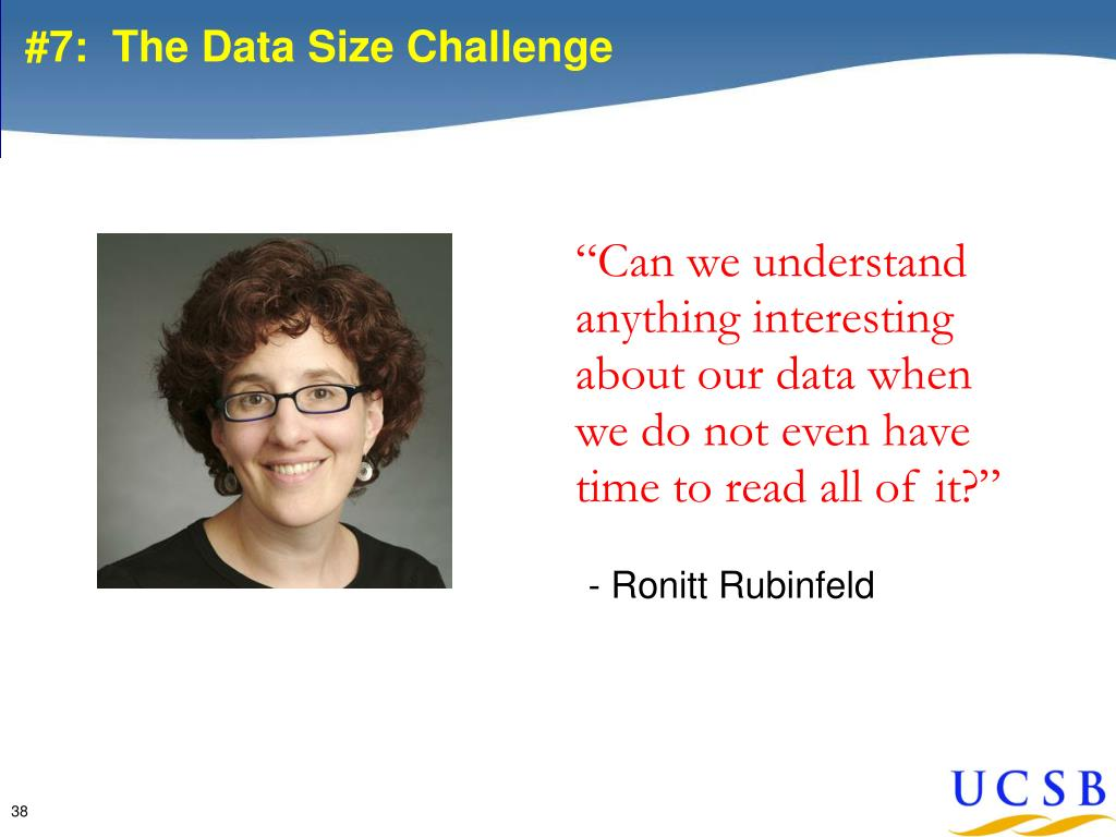 #7:  The Data Size Challenge