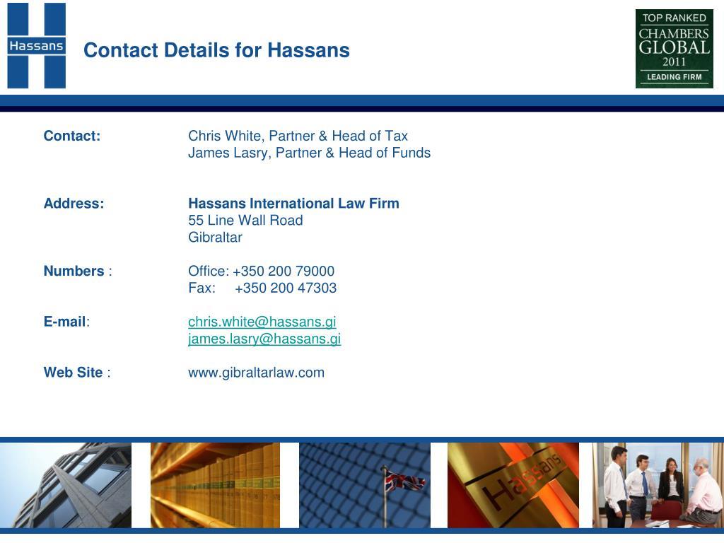 Contact Details for Hassans