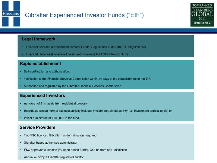 Gibraltar experienced investor funds eif