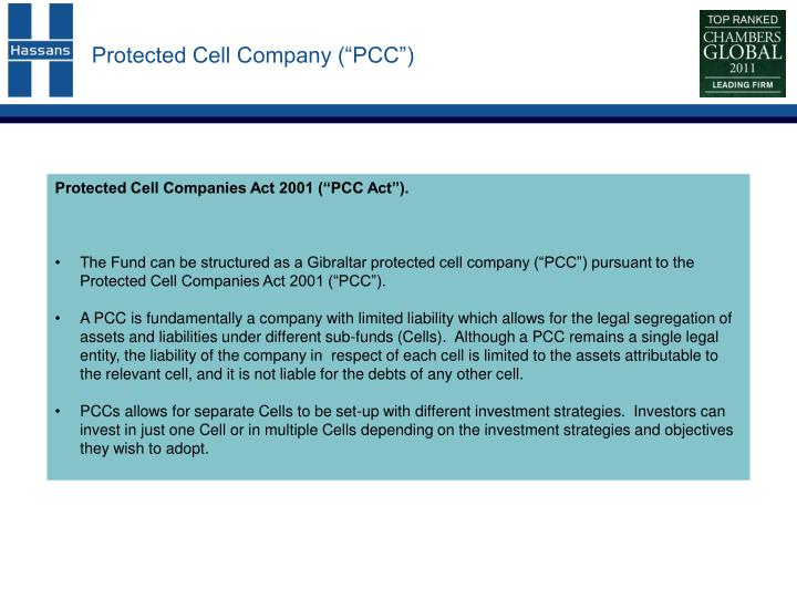 Protected cell company pcc