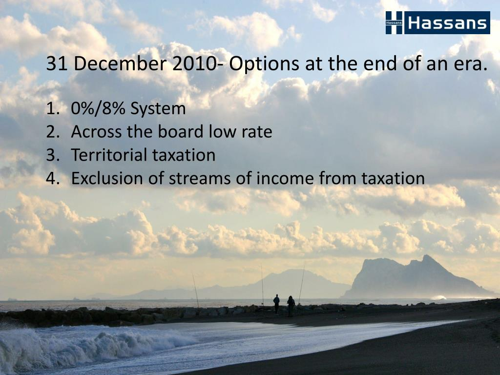 31 December 2010- Options at the end of an era.