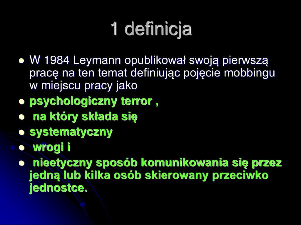 1 definicja