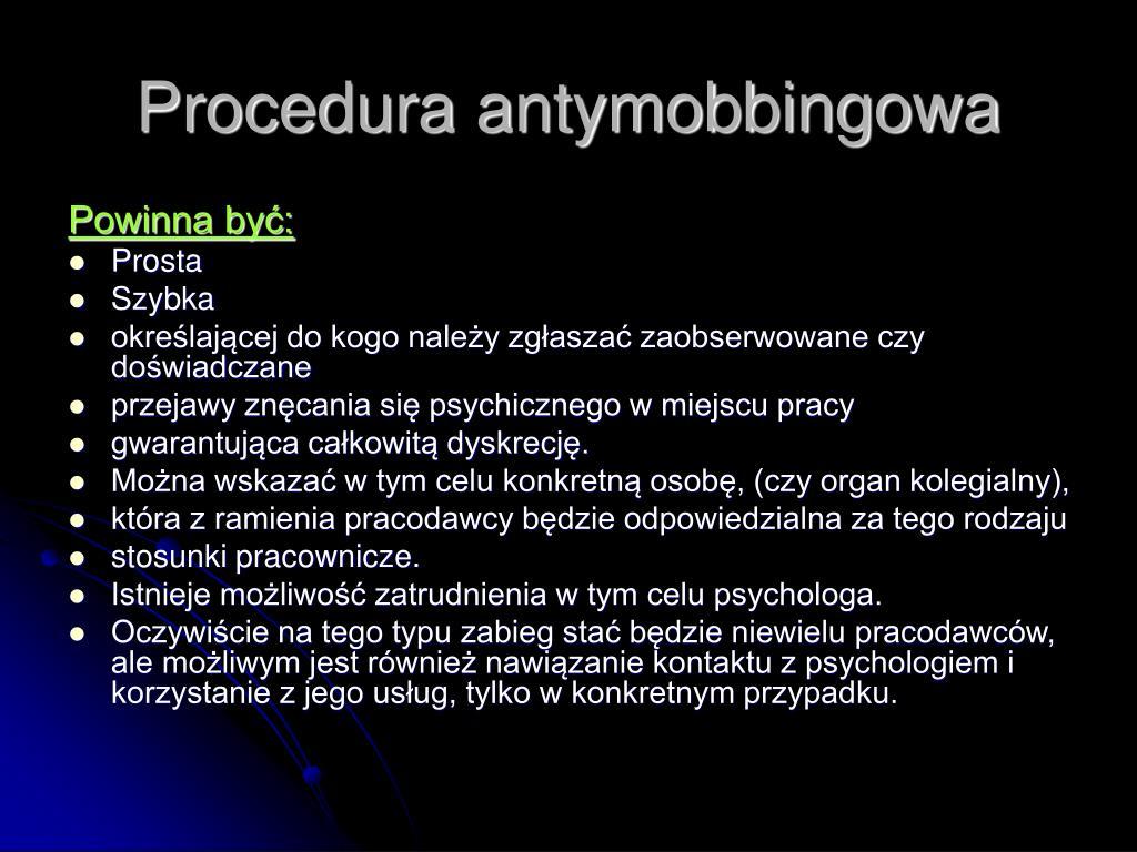 Procedura antymobbingowa