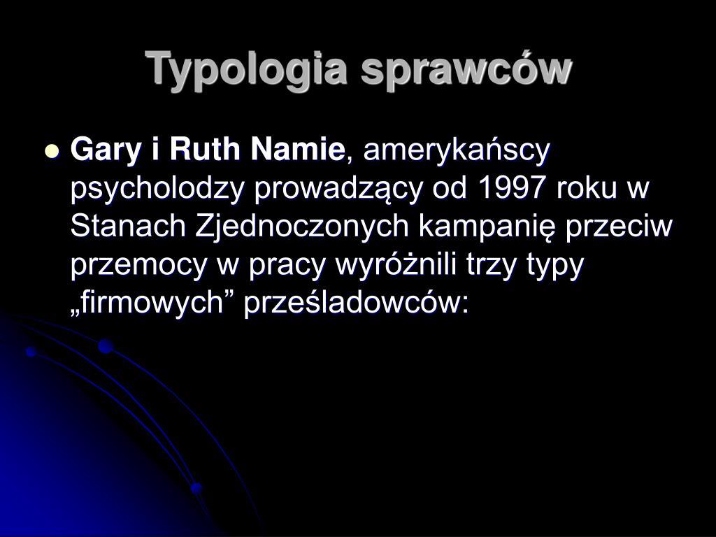 Typologia sprawców