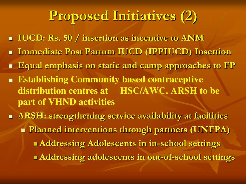 Proposed Initiatives (2)