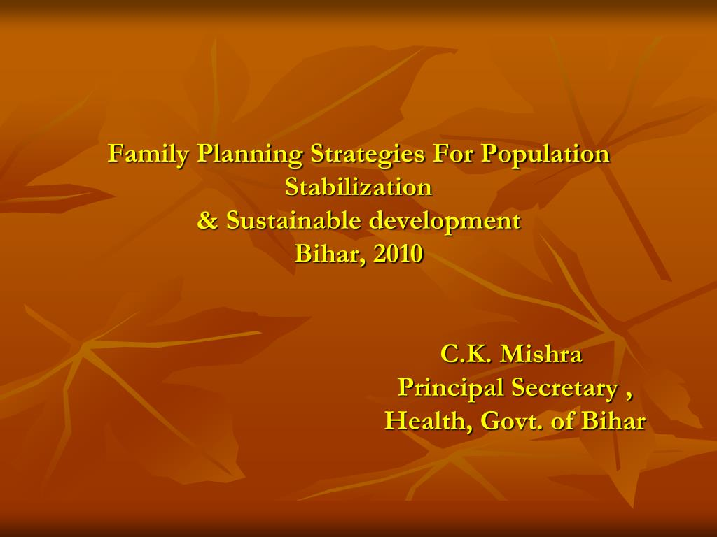 Family Planning Strategies For Population Stabilization