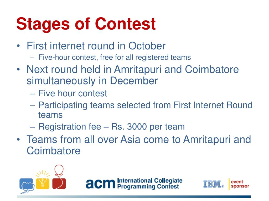 Stages of Contest