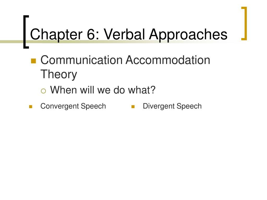 Convergent Speech