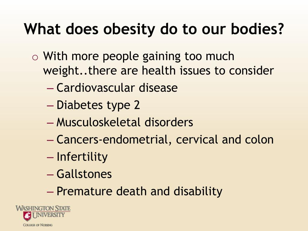 What does obesity do to our bodies?