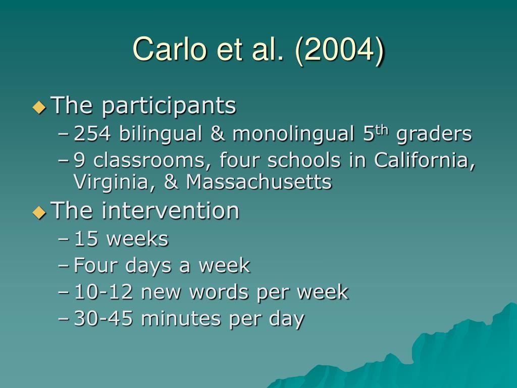Carlo et al. (2004)