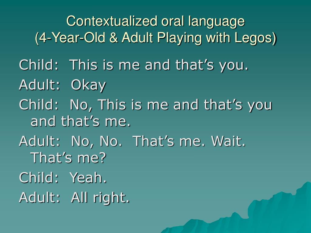 Contextualized oral language