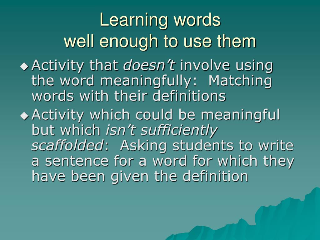 Learning words