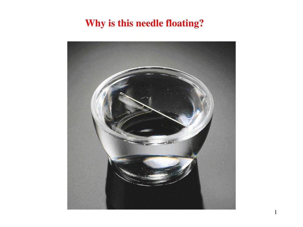 Why is this needle floating?