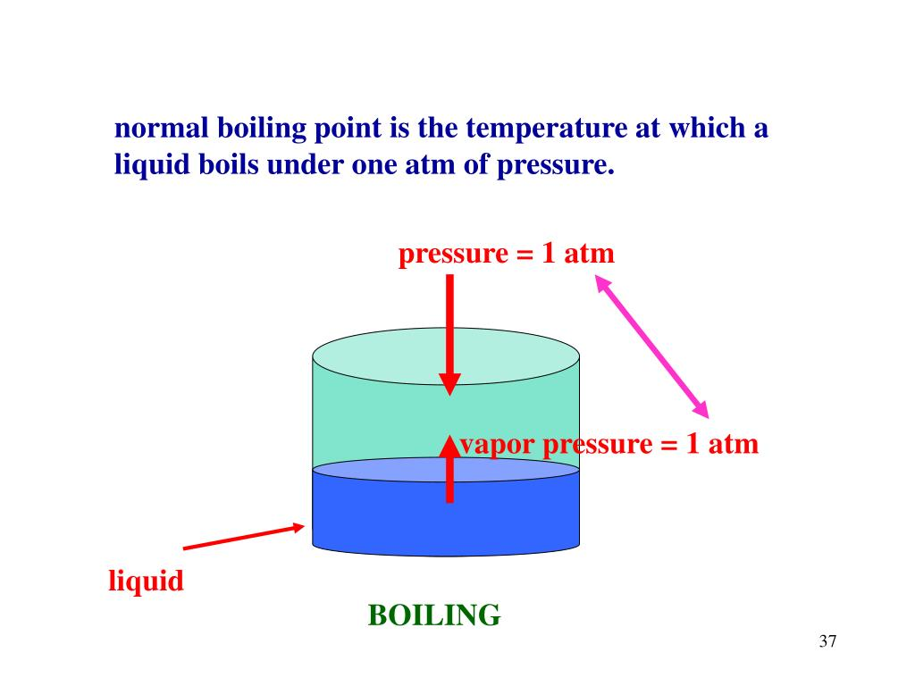 normal boiling point is the temperature at which a