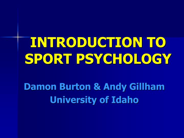 introduction to sport psychology n.