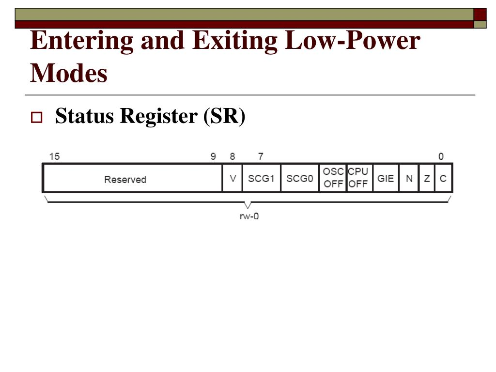 Entering and Exiting Low-Power Modes